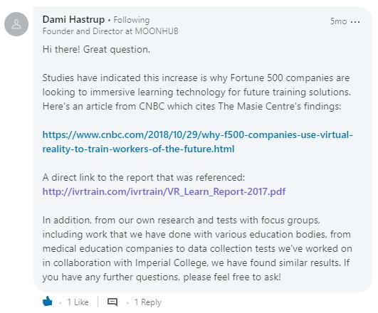 Dami Hastrup - statement